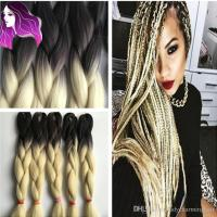 Synthetic Braiding Hair 24inch Ombre Color Blonde ...