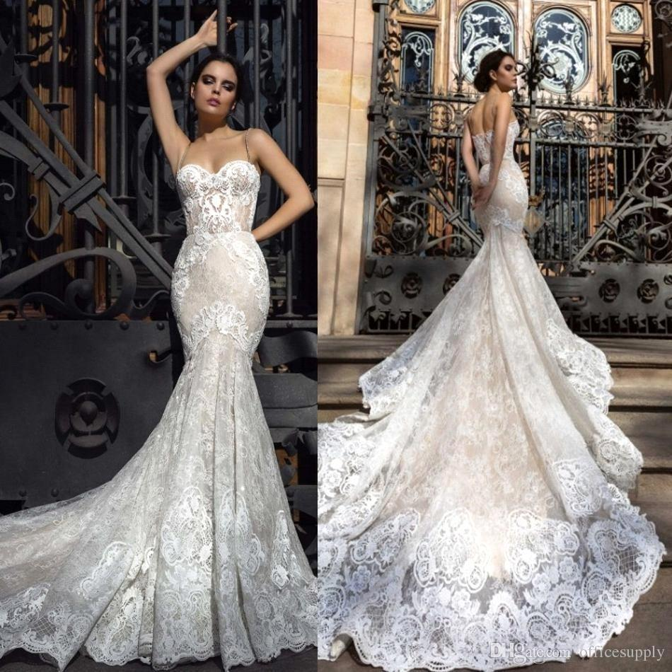 Custom Made New Mermaid Style Wedding Dresses 2019 Backless Sweetheart Neckline Appliques Tulle