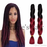 24inch Ombre Braid Crochet Box Braids Hair Synthetic