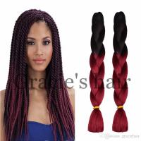 24inch Ombre Braid Crochet Box Braids Hair Synthetic ...