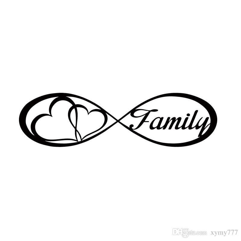 2019 For Family Love Heart Infinity Forever Symbol Car
