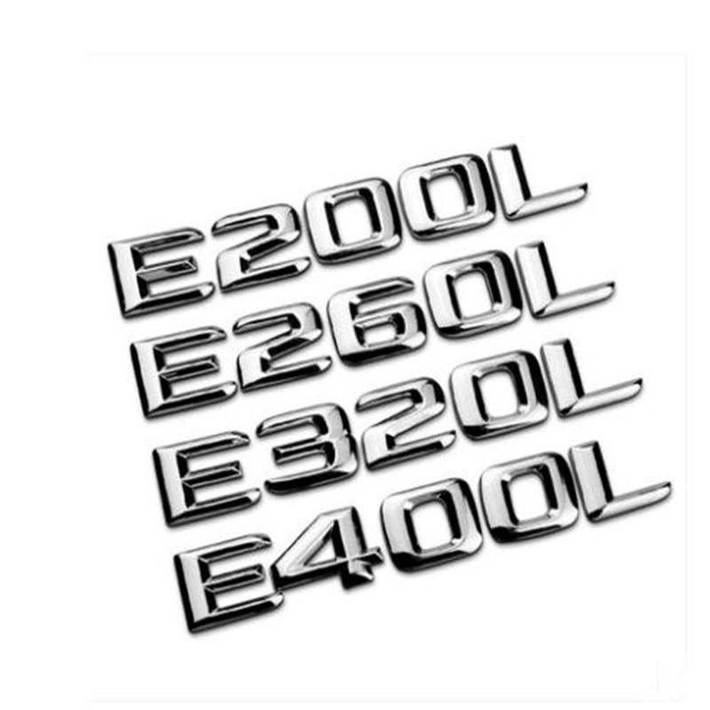 2020 Car Styling New 3D Abs Chrome E200L E320L C63 Badge