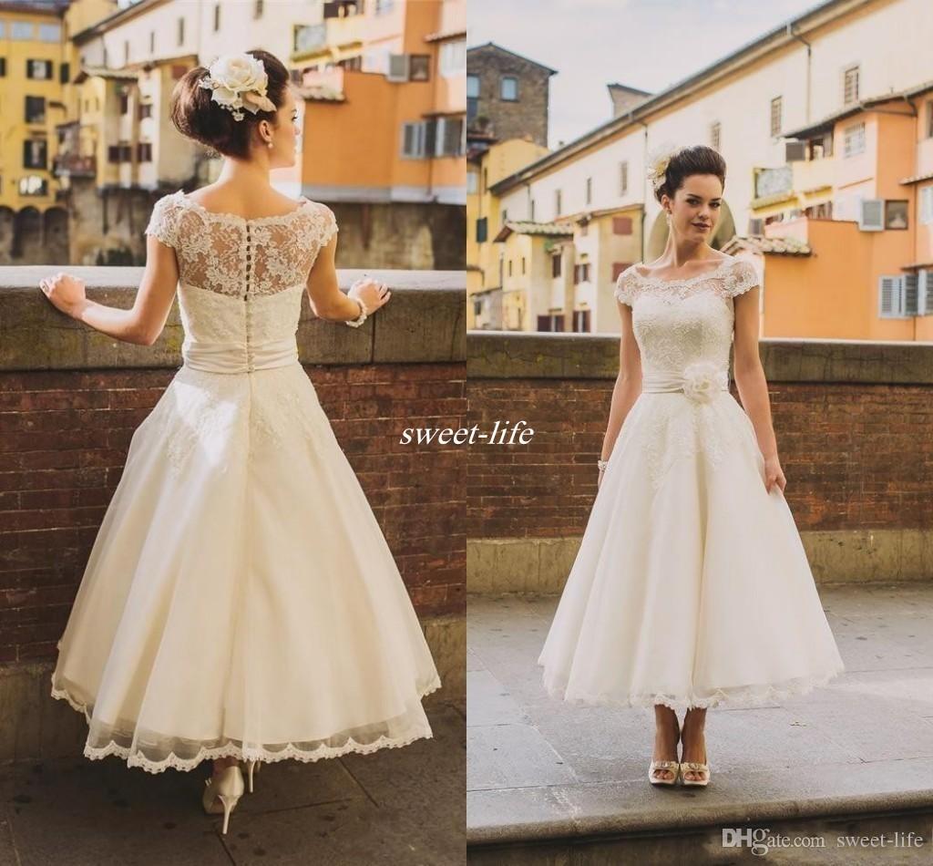 Discount 50s Style Retro Vintage Wedding Dresses 2017