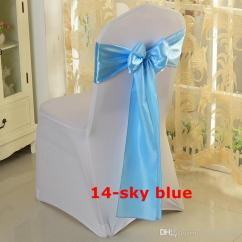 Baby Blue Chair Covers Foot Color Satin Bow Sash Used On Cover Free Shipping