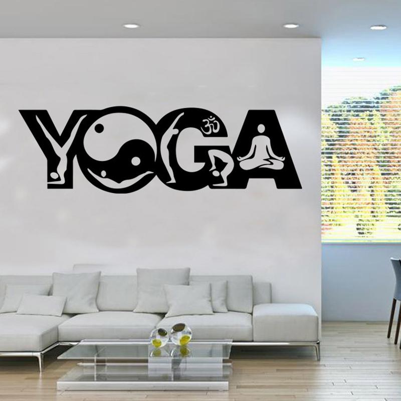 large wall stickers for living room india columns indian buddhism yoga art mural poster sticker mandala decal home decor applique decals trees