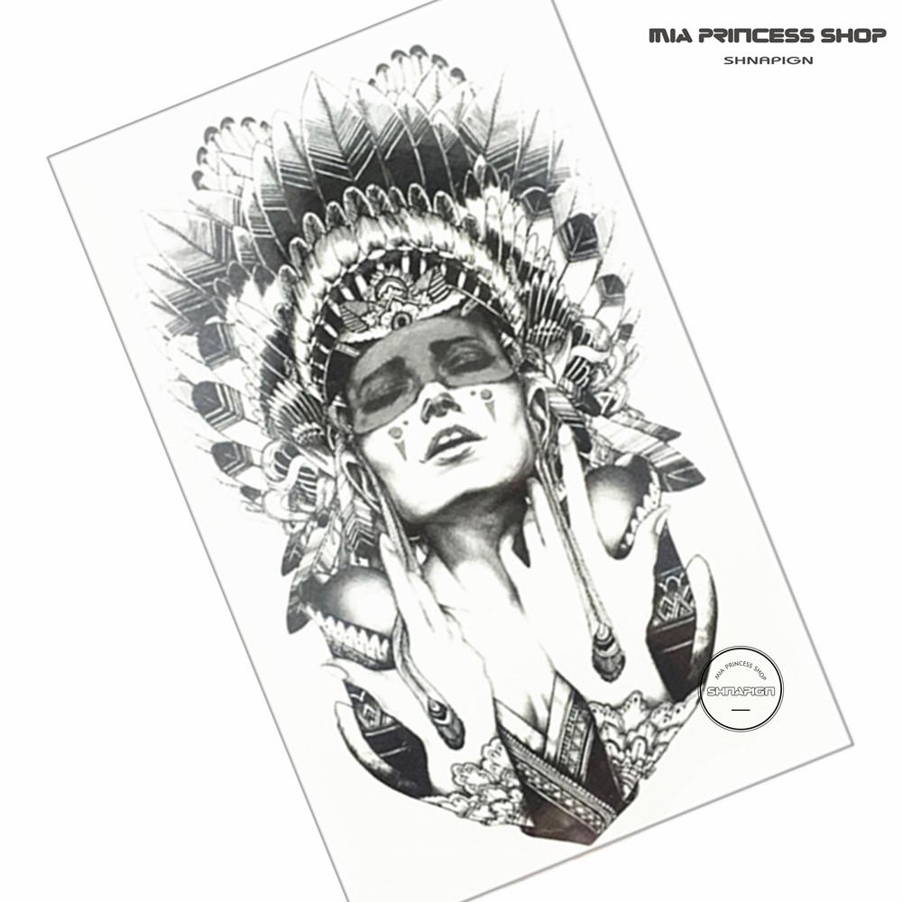 Wholesale Indian Warrior Temporary Tattoo Body Art Flash