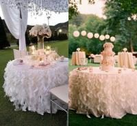 White Ivory Ruffled Table Skirt Curly Willow Table Skirts ...