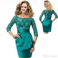Emerald Green Lace Mother of The Bride Dresses 2017 Plus