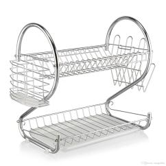Kitchen Drying Rack Home Depot Wall Tile 2019 Brand New 2 Layer Dish Cup Drainer Dryer Tray Cutlery Holder Organizer Free Shipping
