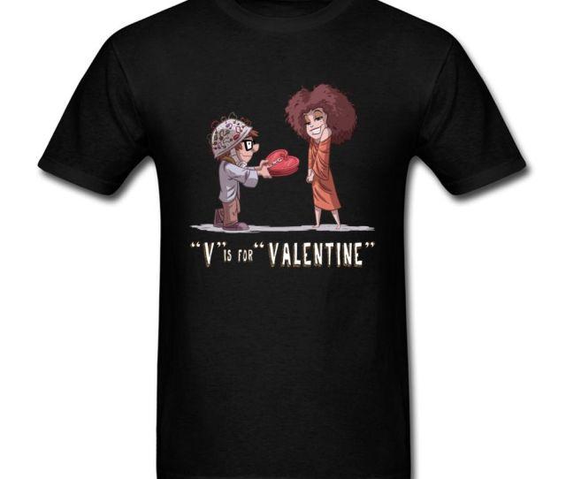 V Is For Valentine T Shirt Men Romantic T Shirt Comics Tops Lovers Clothing Boyfriend Gift Tshirt Slim Fit Tees Cotton Fabric Trendy T Shirts For Men Shirts