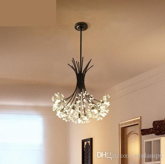 hanging pendant light living room white furniture cheap regron nordic lights modern led crystal ceiling bedroom lamp lamps clothing store art studio industrial