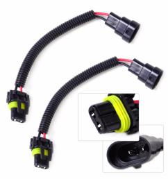 2019 wire harness connectors dwcx 2x car pvc plastic nylon extension adapter wiring harness socket wire connector for hb4 9006 9012 headlight fog from  [ 1000 x 1000 Pixel ]