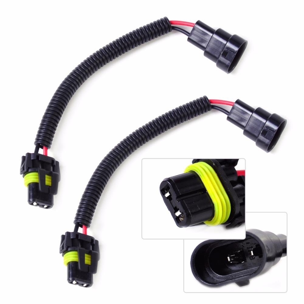 hight resolution of 2019 wire harness connectors dwcx 2x car pvc plastic nylon extension adapter wiring harness socket wire connector for hb4 9006 9012 headlight fog from