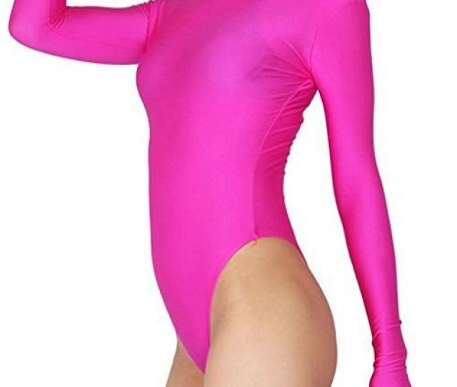 Womens Sexy Thong Bodysuit Sexy Long Sleeve Zentai Clubwear Zentai Suits One Piece Footed Unitard Thong Bodysuit Online With 30 85 Piece On Dhwiners