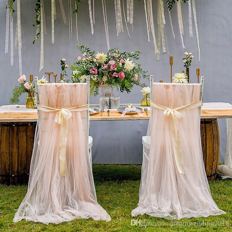 how to make easy chair covers for wedding diy posture 2019 2018 new arrived elegant mesh sash weddings tulle simple decorations from dreamwedding2018 24 33 dhgate com