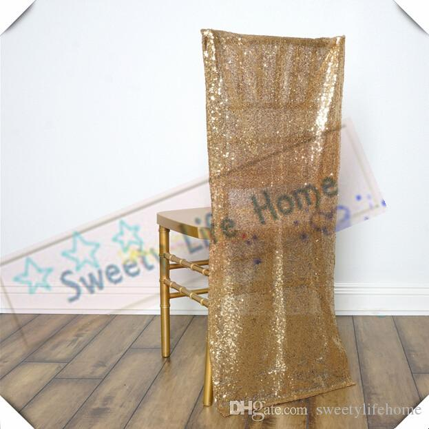 large banquet chair covers french script gold sequin chiavari cover seats for wedding and party outdoor chairs decorations slipcover rental