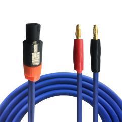 Nl4fc Wiring Diagram Nissan Almera Schematic Hifi 4 Pole Speakon To Banana Plug Stage Speaker Audio Cable M Nl2fc