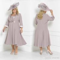 2018 Chic Plus Size Mother Of The Bride Dresses With Long ...