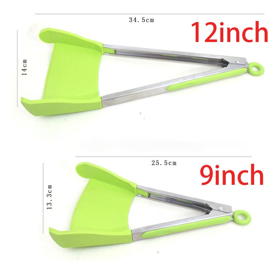 kitchen tongs making cabinets 2019 clever spatula tong 2 in 1 non stick heat resistant helper frame tools from weightscales 6 39 dhgate