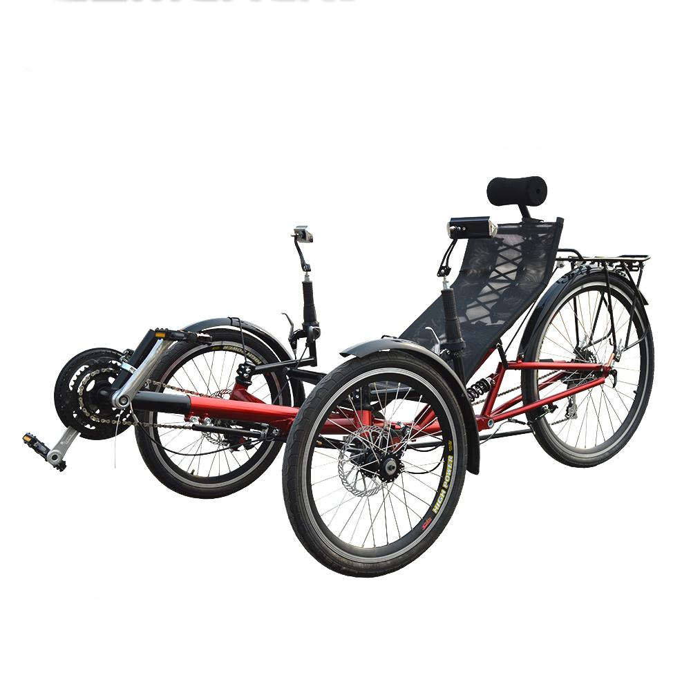 M009 3 Wheel Recumbent Tadpole Trike For Adults With Rear