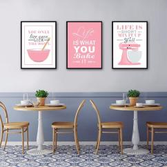 Framed Prints For Kitchens Kitchen Style Ideas New Baking Mixer Canvas Painting Life Quote Oil Posters And Wall Pictures Living Room Art Home Decor Unframed Canada 2019 From Herbertw