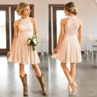 Cheap Short Lace Country Cowgirls Bridesmaids Dresses ...