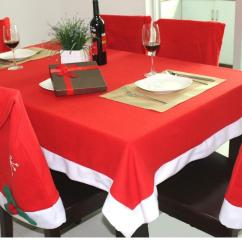 Tablecloths And Chair Covers For Rent Child Upholstered Christmas Hat Dinner Cloth Desk Santa Clause Red Cap Cover Case Set Xmas Party Decor Aaa715 Folding Rental