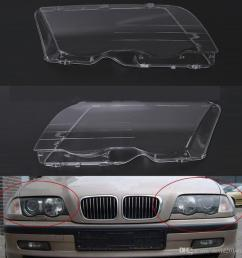 for bmw e46 1998 1999 2000 2001 car headlight headlamp clear lens shell cover driver passenger side auto shell 4 doors automotive exterior automotive  [ 1000 x 1000 Pixel ]