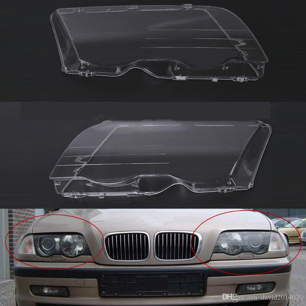 hight resolution of for bmw e46 1998 1999 2000 2001 car headlight headlamp clear lens shell cover driver passenger side auto shell 4 doors automotive exterior automotive