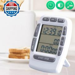 Loud Kitchen Timer Counter Height Table Sets Digital Cooking Multichannel White Beauty Games C18111501 Online With 18 49 Piece On Mingjing03 S Store