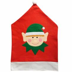 Christmas Elf Chair Covers Cover Alternatives Wedding Santa Claus Decoration Dinner Table Party Holiday Festive Adornos Navidad 2016 Cheap