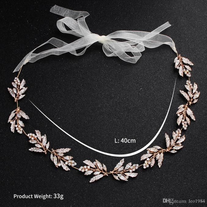 hot style bridal headdress alloy leaves hand-cut with amazon wedding dress accessories hair accessories