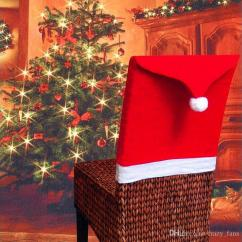 How To Make Kitchen Chair Back Covers Club Uk Christmas Red Santa Hat Slipcover For Dining Room Decor Xmas Decoration Unique Decorations