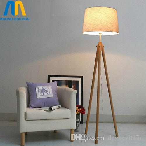 living room standing lamp home cinema designs modern led wooden design floor lamps japan with cloth cheap loft best luxury