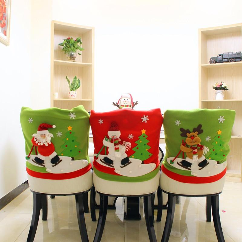 christmas dining room chair covers play table and chairs for toddlers lovely santa claus deer snowman doll cover home party decoration xmas decorations sale decors from