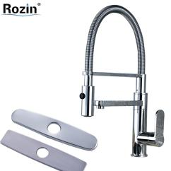 Kitchen Mixers Gadgets Stores 2019 Chrome Brass Pull Down With Bracket Faucet Single Handle Side Spout 10 Hole Cover Plate From Huayama