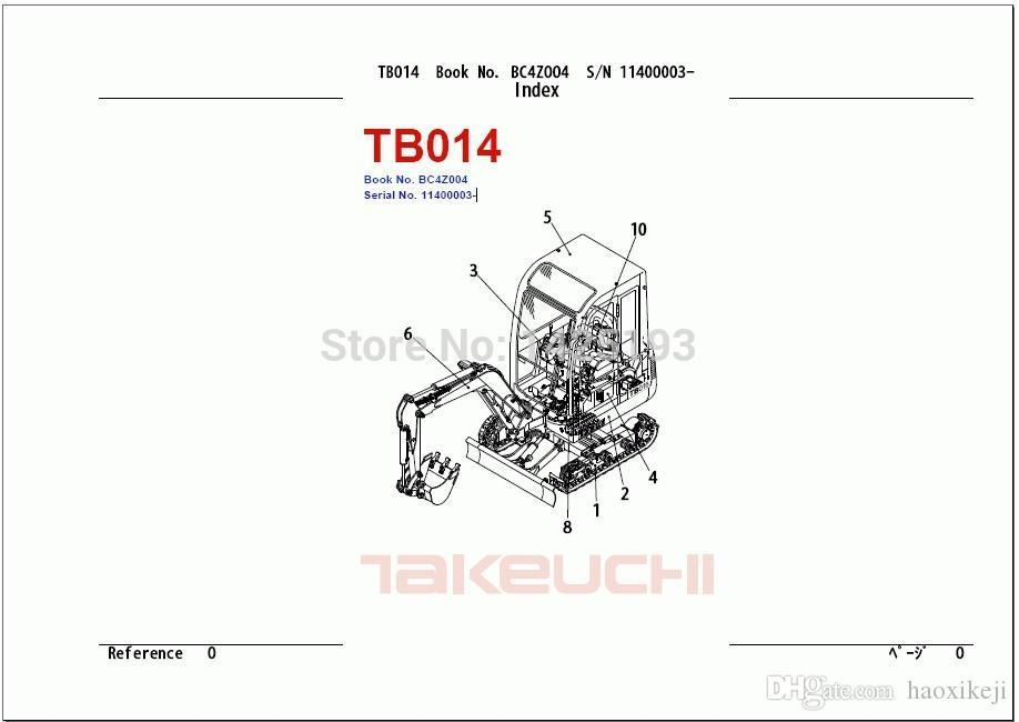 Takeuchi Parts Catalogs 2015 Diagnostic Automotive