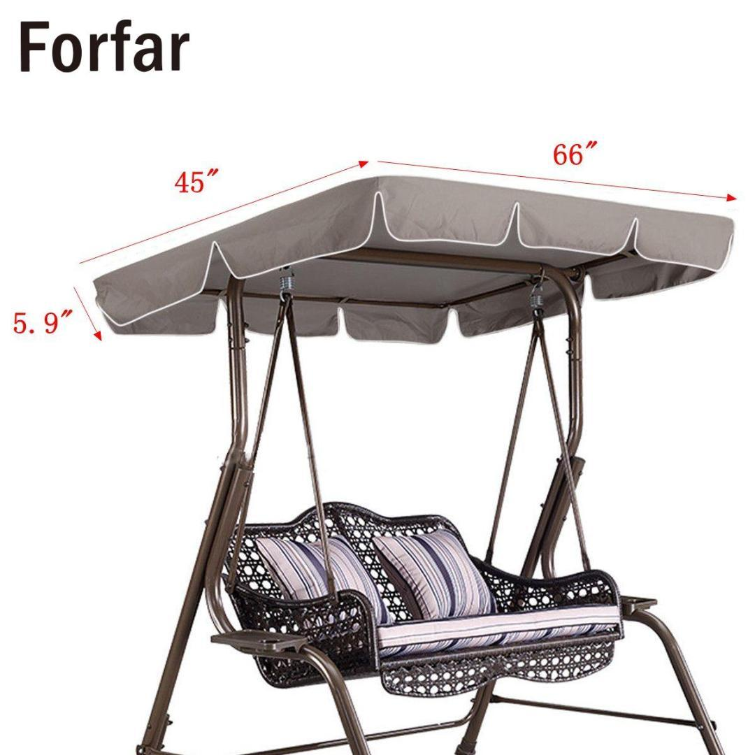 swing chair canopy replacement covers decoration ideas 66x45x5 9 waterproof awning top cover for outdoor hammock garden courtyard camping equipment tent