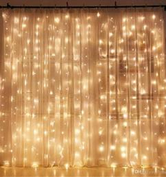 3 3m led window curtain icicle lights 306 led 9 8ft 8 modes string fairy light string light for christmas halloween wedding led light strings light string  [ 1001 x 1001 Pixel ]