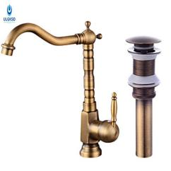 Antique Bronze Kitchen Faucet Mission Style Cabinets 2019 Ulgksd Brass Sink Set Pop Up Drain 360 Rotation Deck Mount Hot And Cold Water Mixer Taps From Shuishu