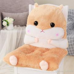 Back Pillow For Office Chair Used Waiting Room Chairs Animal Design Thicken Cushion Cute Plush Toy Seat Pad Home Decor Buttock Mat Almofada Replacement Outdoor Sofa