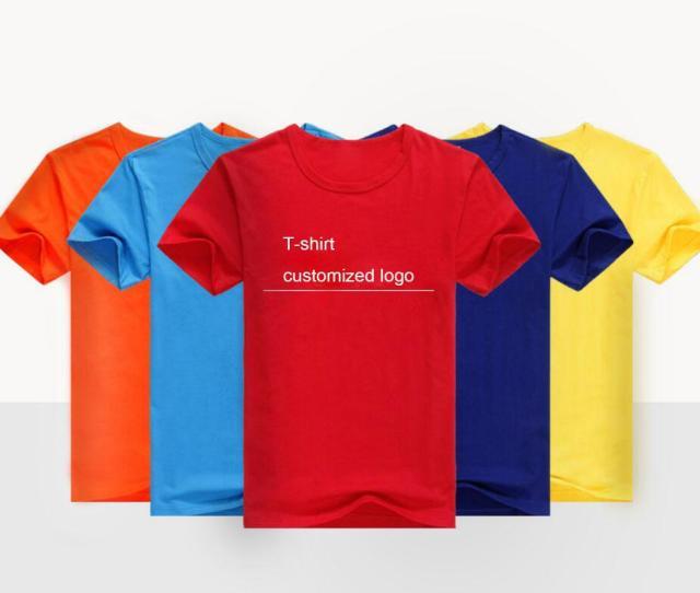 Class Clothing Custom T Shirt Adult Childrens Pure Cotton T Shirt Advertising Shirts Custom Round Collar Short Sleeved Work Clothes Print Make A Tee Shirt