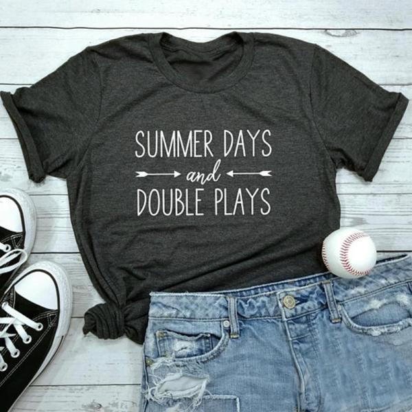 Baseball Softball Shirt Summer Days And Double Plays