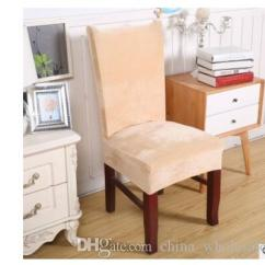 Dining Chair Covers Velvet Seat Spandex Elastic Thick Solid Color Cover Hotel Anti Dirty Removable Party Office Stretch Protective Casezi 073 Linen Rentals