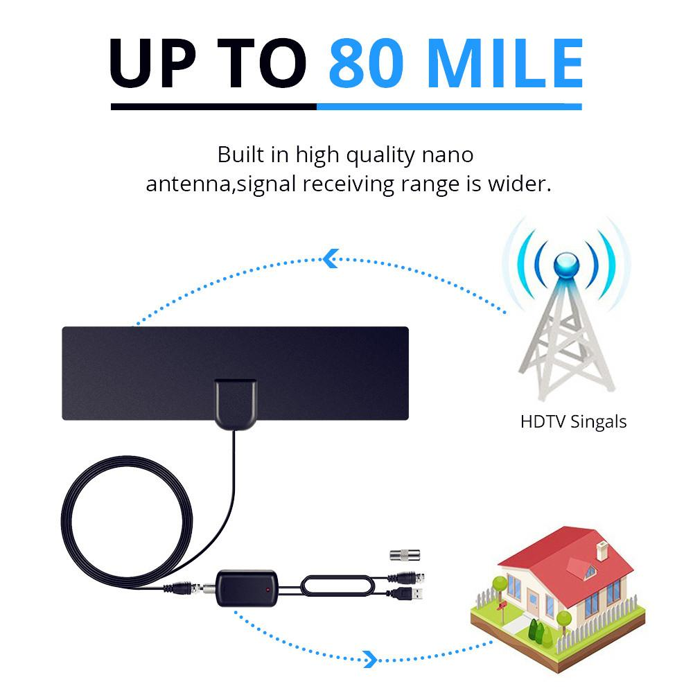 hight resolution of ah link 1080p indoor tv antenna digital hdtv antenna amplified booster 80 mile range 4k hd vhf freeview local channel tv aerial hdtv antennas outdoor hd