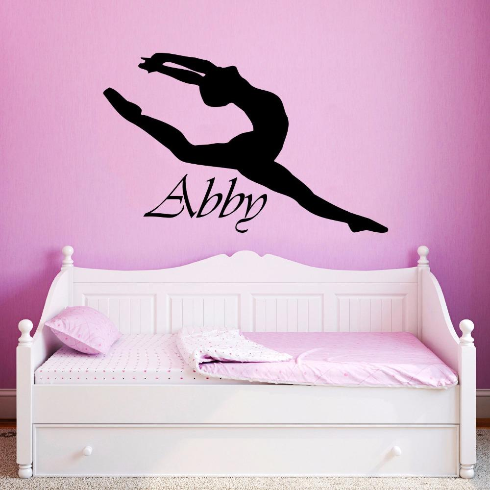 vinyl wall sticker custom personalized girls name decor ballerina