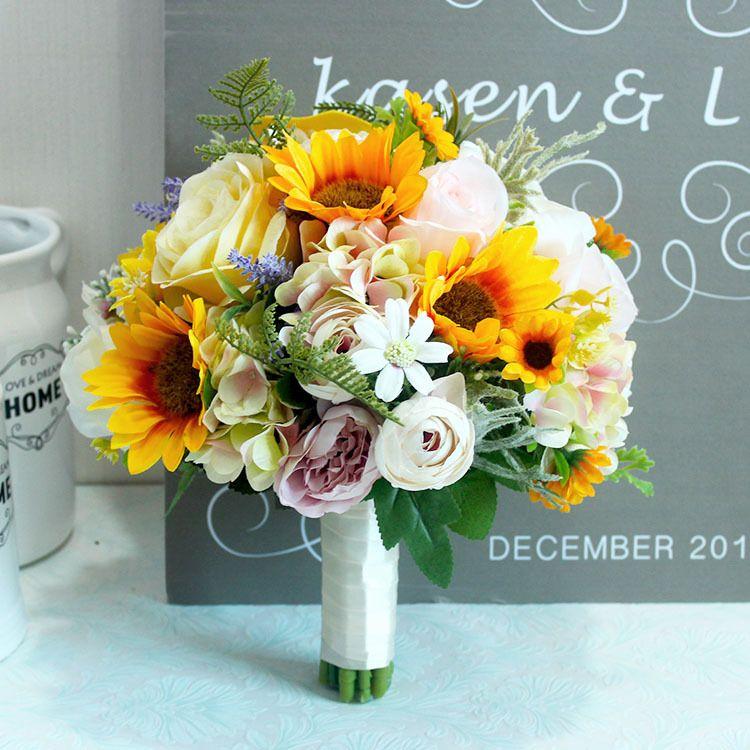 Grohandel JaneVini Knstliche Sonnenblume Rosen