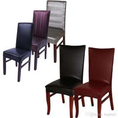 Stretch Dining Chair Covers Neutral Posture Adjustments Leather Pu Spandex Machine Washable Restaurant For Weddings Banquet Hotel Room Cover Sofa Seat Online
