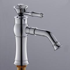 Antique Kitchen Faucets Remodeling Philadelphia 2019 Brass Polished Silver Crystal Basin Faucet Single Handle Hole Sink Mixer Tap Hot Cold Water From Meetamo