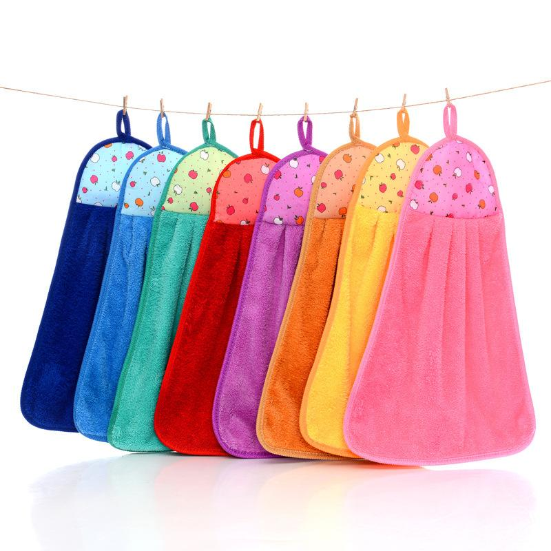 towel for kitchen cart on wheels super absorbent microfiber towels coral fleece hand hanging cleaning cloth 31 45cm canada 2019 from sophine09
